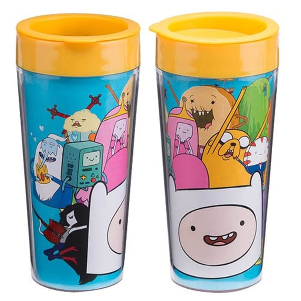 Adventure Time Cast 16-ounce Plastic Travel Coffee Mug
