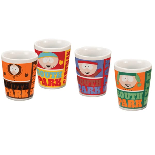 South Park Cast Shot Glasses (Set of 4)