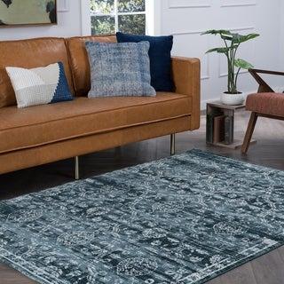 Alise Essence Blue Area Rug (7'6 x 10'3)