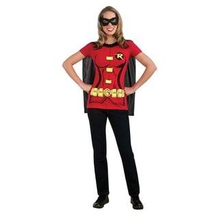 Women's Batman's Robin Adult T-Shirt Costume Kit