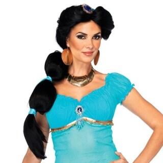 Women's Aladdin's Princess Jasmine Long Black Hair Wig