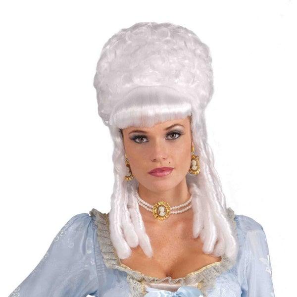Women's Adult Queen Marie Antoinette White Wig