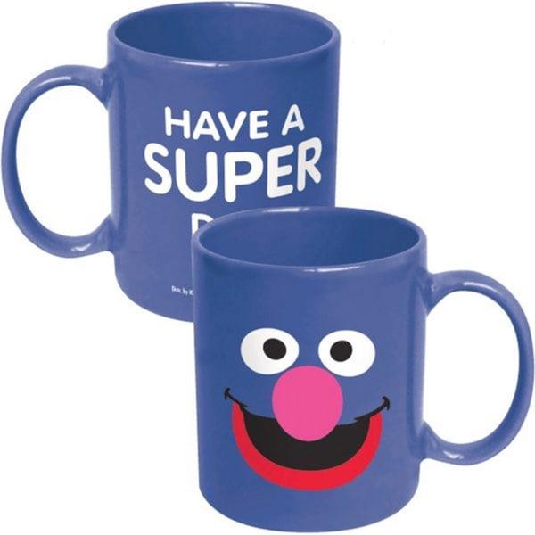 Sesame Street Big Face Grover Have A Super Day 12-ounce Coffee Mug