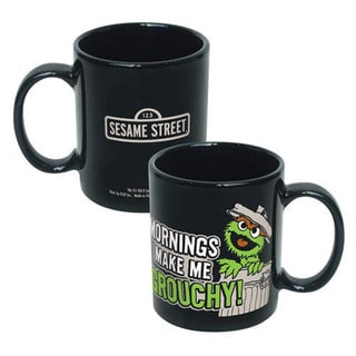Oscar The Grouch 'Mornings Make Me Grouchy' Ceramic Coffee Mug