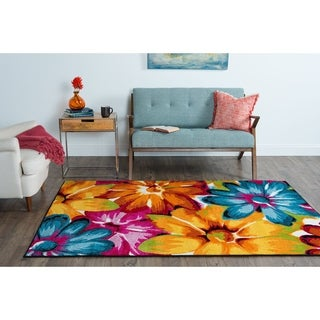 Rhapsody SMP1005 Multi-colored Area Rug (5' x 8')