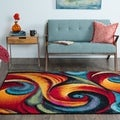 Rhapsody SMP1001 Multi-colored Area Rug  (5' x 8')