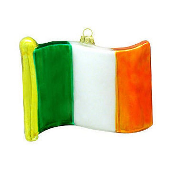 Ireland Flag Glass Christmas Ornament