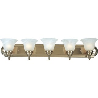 Nickel 5-light Essentials 801x Bath Vanity Light