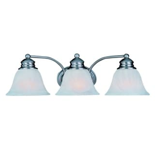 Nickel 3-light Malaga Bath Vanity Light