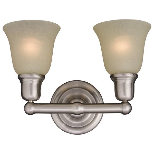 Nickel 2-light Bel Air Bath Vanity Light