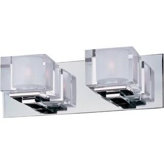 Chrome 2-light Cubic Bath Vanity Light