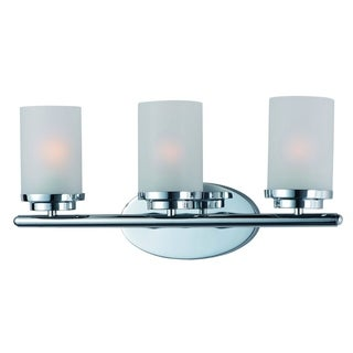 Chrome 3-light Corona Bath Vanity Light