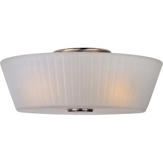 Maxim Nickel 3-light Finesse Flush Mount Light