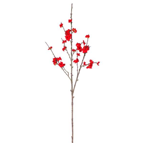 Red Medium Blossom Branch (Pack of 12)