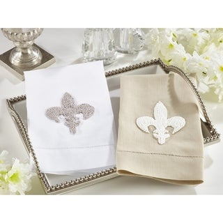 Fleur-de-Lis Design Guest/ Bar Towels (Set of 4)