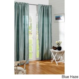 Dupioni Silk Rod Pocket 96-inch Curtain Panel