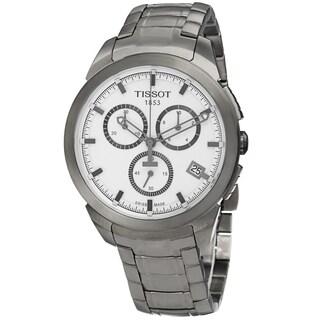 Tissot Men's T069.417.44.031.00 'T Sport' Silver Dial Titanium Bracelet Chronograph Watch