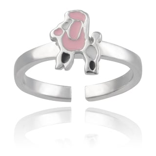 Journee Collection Sterling Silver Poodle Toe Ring