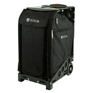 Zuca Pro Artist Black Carry On Upright Suitcase with Black Insert Bag
