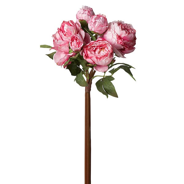 15-inch Peony Bouquet, Pack of 6