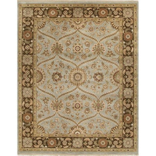 Hand-Knotted Oriental Pattern Blue/Brown (6x9) - AL05 Area Rug