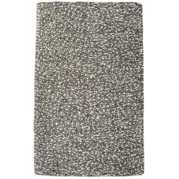 Textured Geometric Pattern Grey/Ivory (2X3) - SCL04 Area Rug