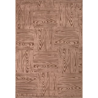 Machine Made Geometric Pattern Brown/Beige (9x12) - FB41 Area Rug