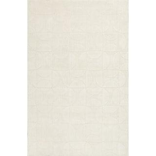 Handloom Geometric Pattern Ivory/White (3.6X5.6) - MT20 Area Rug