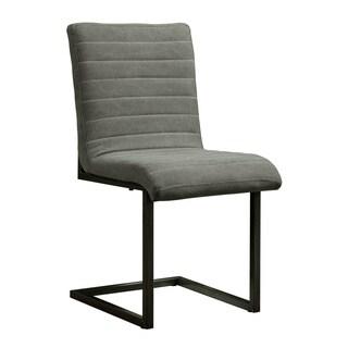 Aurelle Home Queen Side Chair Grey (Set of 2)