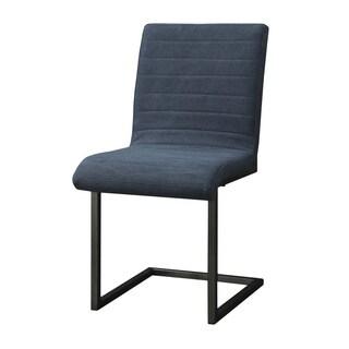Aurelle Home Blue Queen Side Chair (Set of 2)