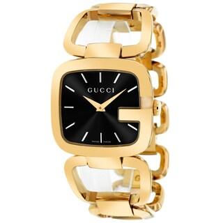Gucci Women's YA125415 Classic Square Goldtone Bangle Bracelet Watch