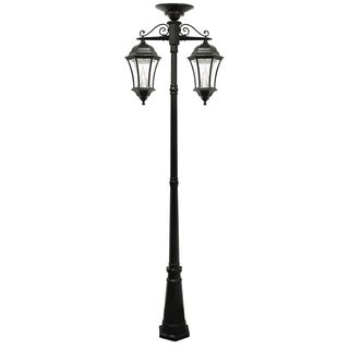 victorian solar two lamp outdoor lamp post. Black Bedroom Furniture Sets. Home Design Ideas