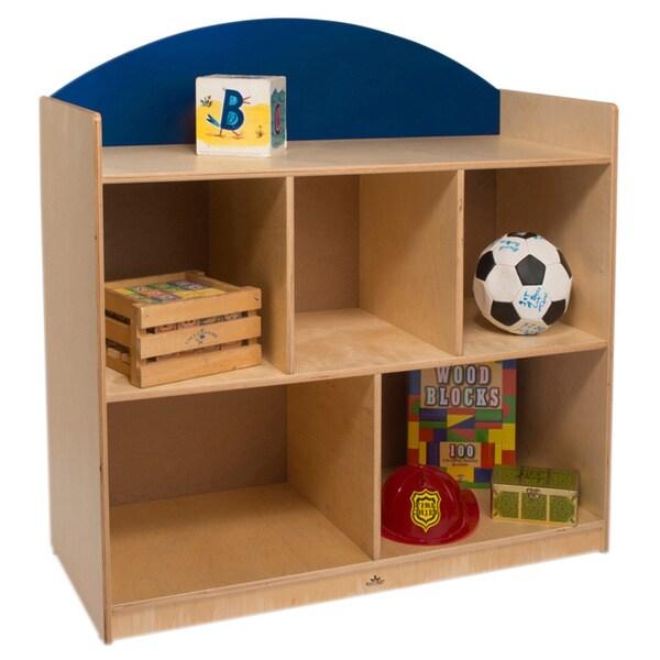 Rainbow Birch Blue Storage Cabinet