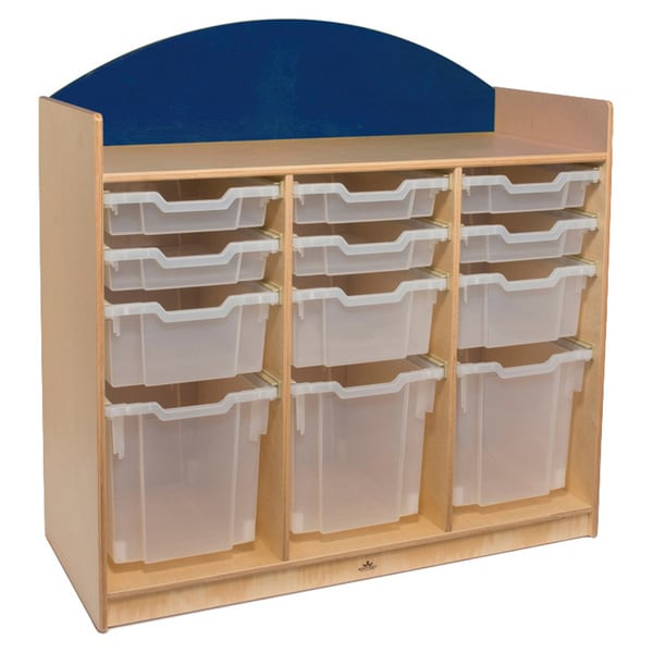 Rainbow Blue Tray Storage Cabinet