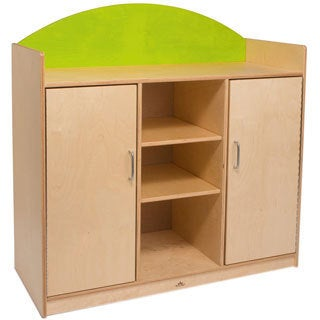 Whitney Brothers Green Rainbow Storage Cabinet