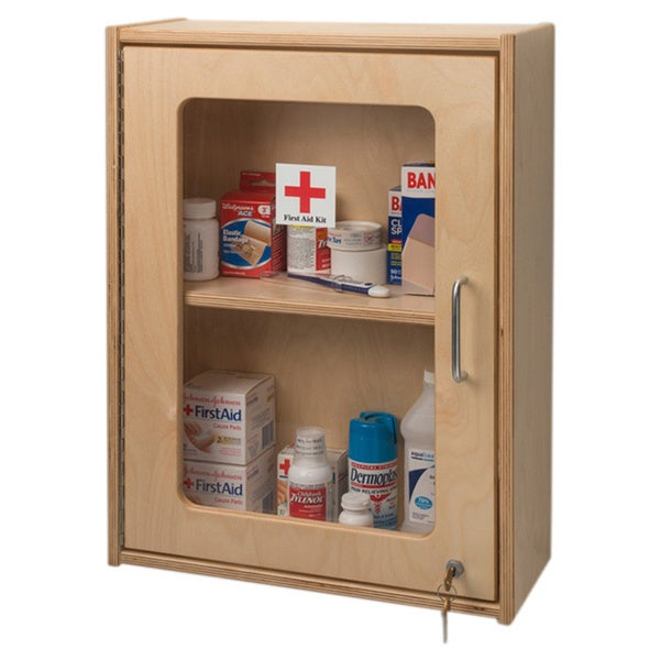 Whitney Brothers Lockable Medicine/ First Aid Wall Cabinet