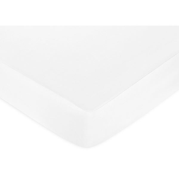 Sweet Jojo Designs White Brushed Microfiber Fitted Crib Sheet