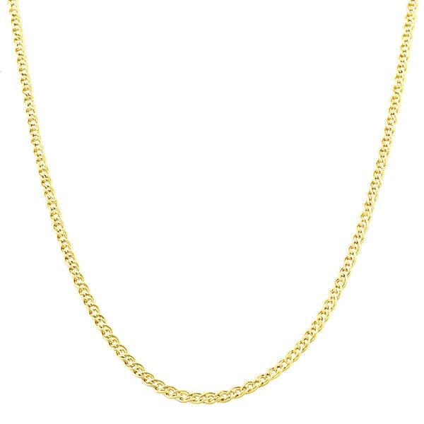Fremada 10k Yellow Gold 2.4 mm Hollow Inner Link Chain