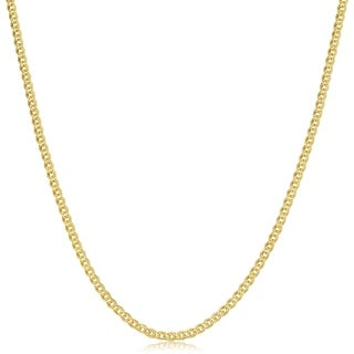 Fremada 10k Yellow Gold 2.4 mm Hollow Inner Link Chain