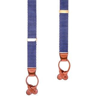 Southern Gents 'Yates' Polka-dot Buttoned Suspenders