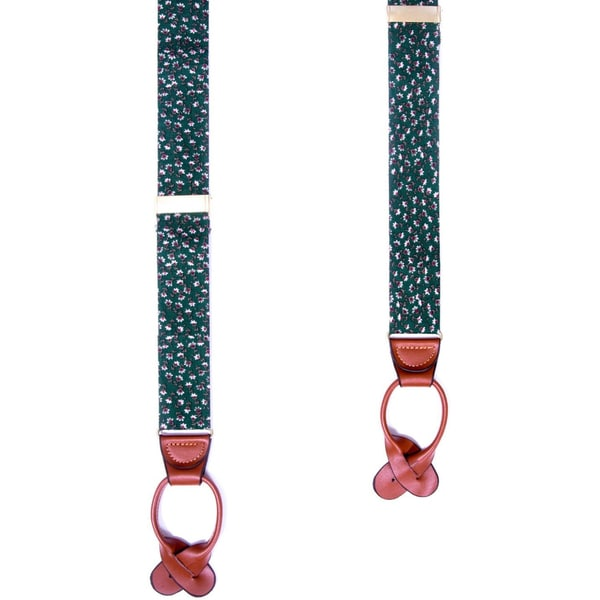 Southern Gents 'Glendale' Floral Print Buttoned Suspenders