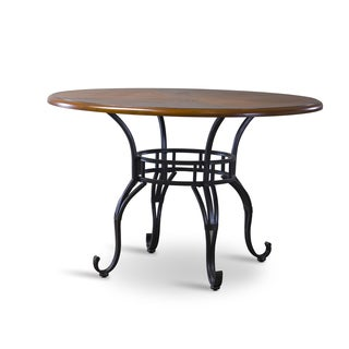 Ibiza Wood and Metal Contemporary Dining Table