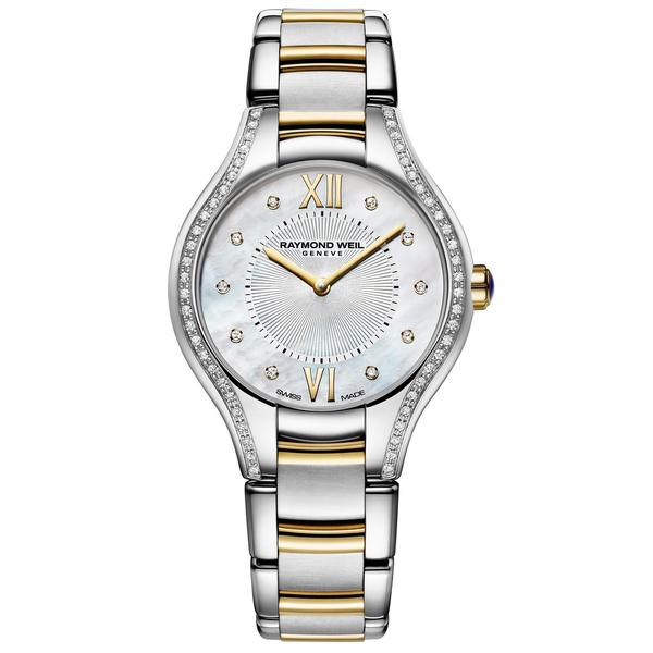 """Raymond Weil Women's 5127-SPS-00985 """"Noemia"""" Mother of Pearl Diamond Stainless Steel Watch"""