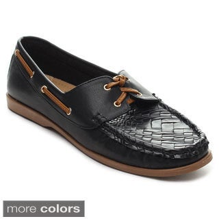 Refresh CLINT-02 Women's Two-tone Slip-on Loafers