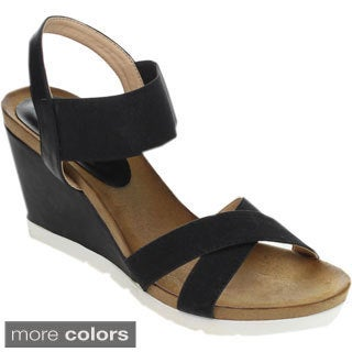 Refresh FRESH-02 Women's Criss-cross Ankle Strap Platform Heels