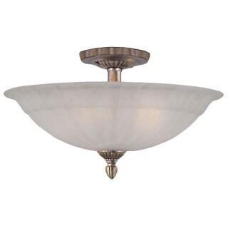Traditional 5-light Antique Silver Semi Flush Mount Light