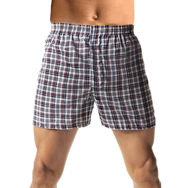 Hanes Men's TAGLESS Woven Comfort Flex Waistband 3x-5x Boxers (3-pack)