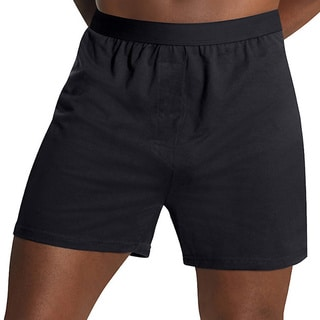 Hanes Men's 3X-5X TAGLESS Comfort Flex Waistband Knit Boxers (3-pack)