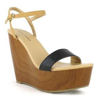 Mark and Maddux Women's 'Asia-03' Dual-tone Wedge Sandals
