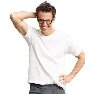 Hanes Classics Men's Traditional Fit ComfortSoft TAGLESS Crewneck Undershirt 3-pack